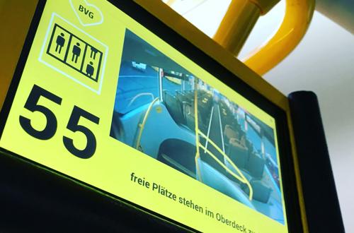 LAT Aktuell - TFT-Monitor zur Optimierung der Sitzplatzauslastung in Bussen.