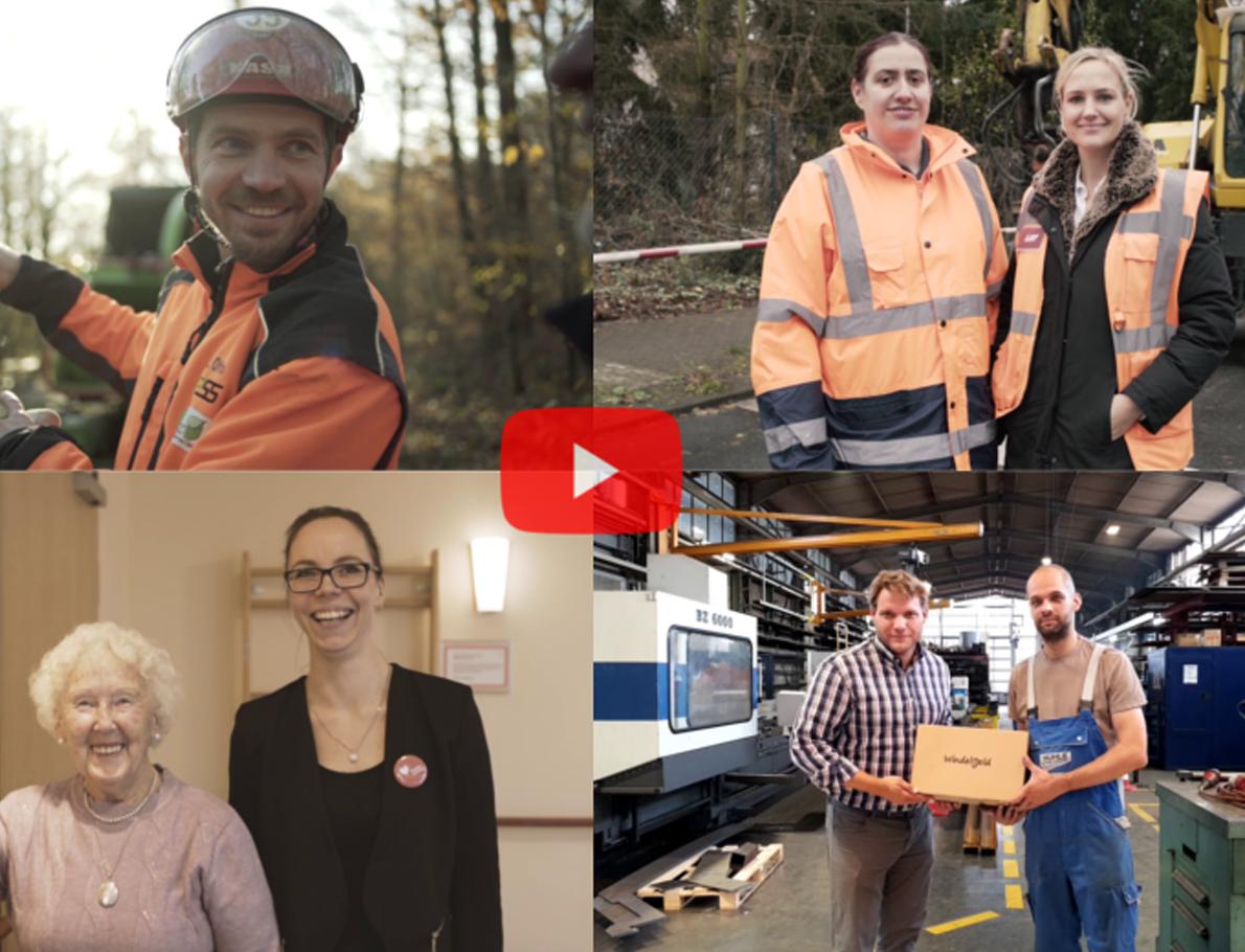 LAT Aktuell - Bilder von Interviews über digitale Hilfsmittel in der täglichen Arbeit.