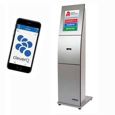 Wartezeitmanagement Zutrittskontrolle Abstand Ticketsystem Anzeigesystem Display