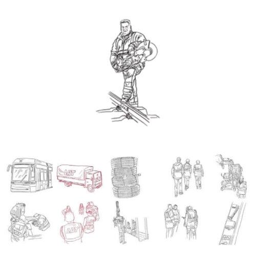Karl Addison Line Drawing TeamLAT