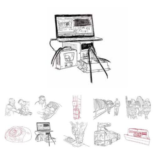 Karl Addison Line Drawing Workstation LAT